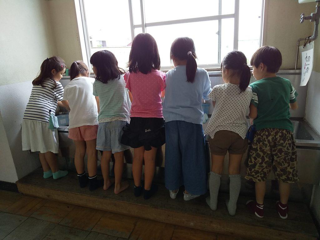 にしのこ放課後児童会 手洗い講座1